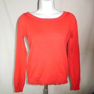 ZARA Red Long Sleeves Women Sweater Shirt Sz. S